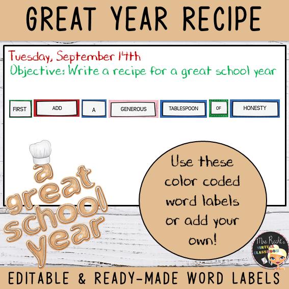 Etiquettes Recipe for a great school 5e
