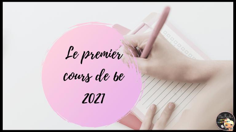 Premier cours de 6e 2021