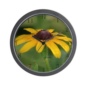 Black-eyed Susan Flower Bloom Wall Clock