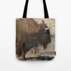 Buffalo Bull Tote Bag