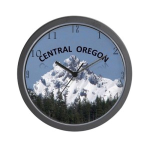 Central Oregon Three Fingered Jack Wall Clock