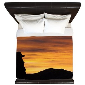 Cowboy Sunrise King Duvet Cover