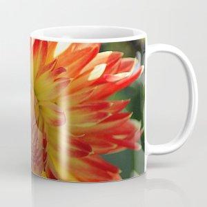 Fire In The Sky Dahlia Flower Coffee Mug