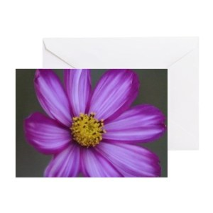 Flashy Cosmos Flower Bloom Greeting Card