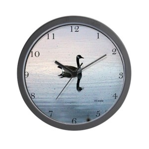 Goose In The Early Morning Light Wall Clock