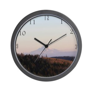 Mt Hood In The Early Morning Wall Clock