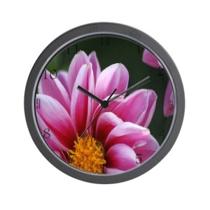 The Beauty Of The Dahlia Flower Wall Clock