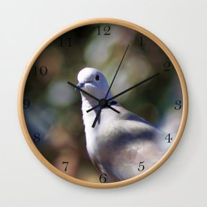 Portrait Of A Dove Clock