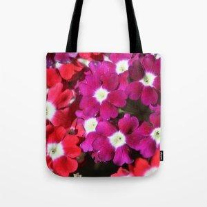 Verbena Flowers Tote Bag