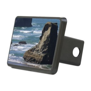 Pacific Ocean Beach Scene Rectangular Hitch Cover