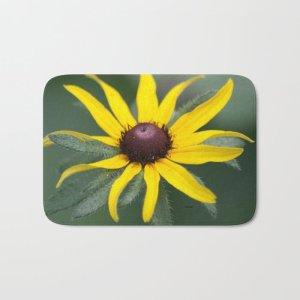 Black Eyed Susan Flower Bath Mat