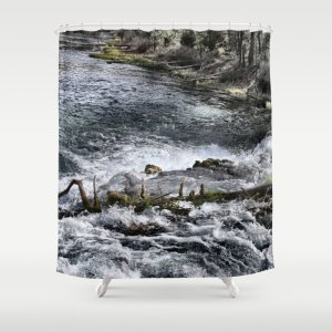 Cascades In The River Shower Curtain