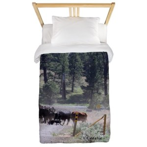 Cattle Drive Twin Duvet