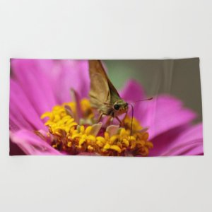 Colorful Skipper Butterfly Beach Towel