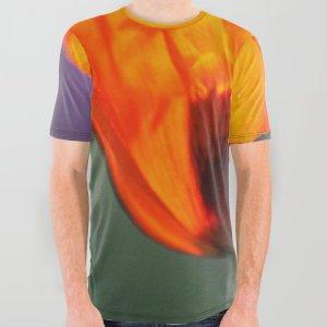 Orange Poppy Flower All Over Print Shirt
