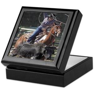 Rodeo Roping Keepsake Box