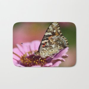 West Coast Painted Lady Butterfly Bath Mat