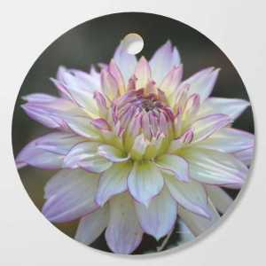 Colorful Dahlia Flower Bloom Cutting Board