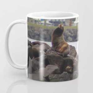 Oregon Coast Wildlife Sea Lions Coffee Mug