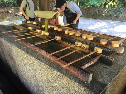 It is tradition to rinse your hands and mouth before entering temple grounds.