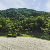 The garden at Tenryu-ji Temple is one of the oldest landscaped gardens in Japan (1339).