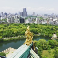 The view from the top of Osaka Castle