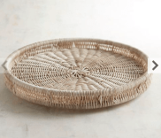 Whitewashed Plicker Lazy Susan