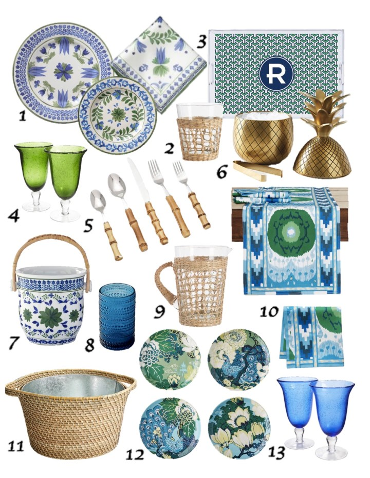 Delegate the Decor – Blue & Green Summer Tabletop
