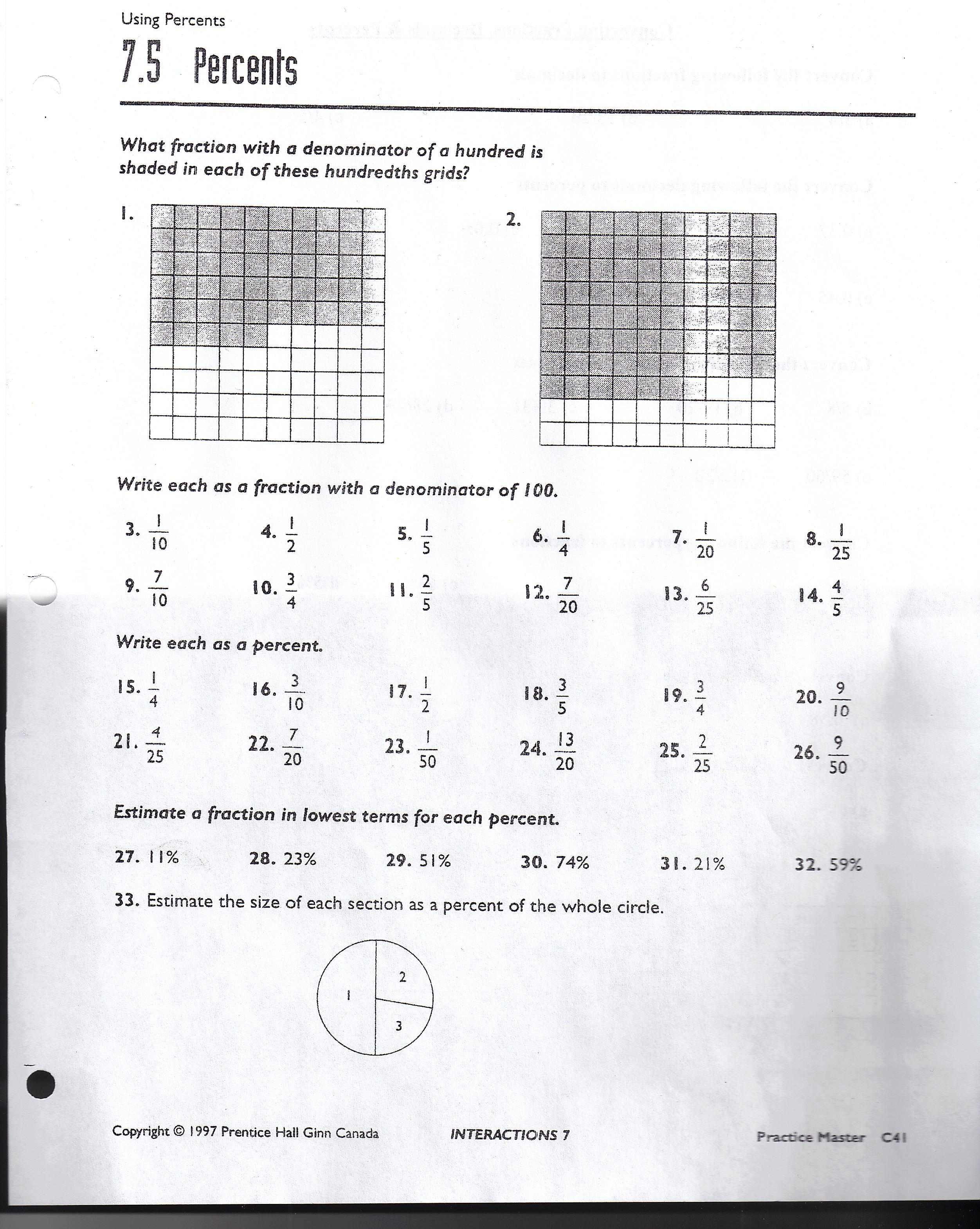 Basic Fraction Worksheet 130 131 Printable Worksheets