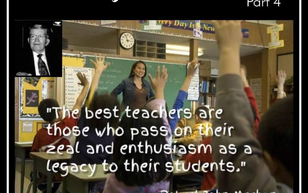 Teacher Appreciation Week – Why I Teach Music – Part 4