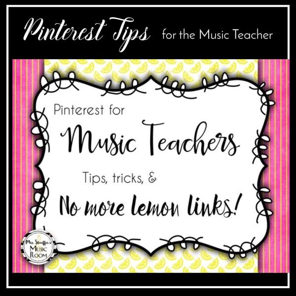 Pinterest Tips for Music Teachers