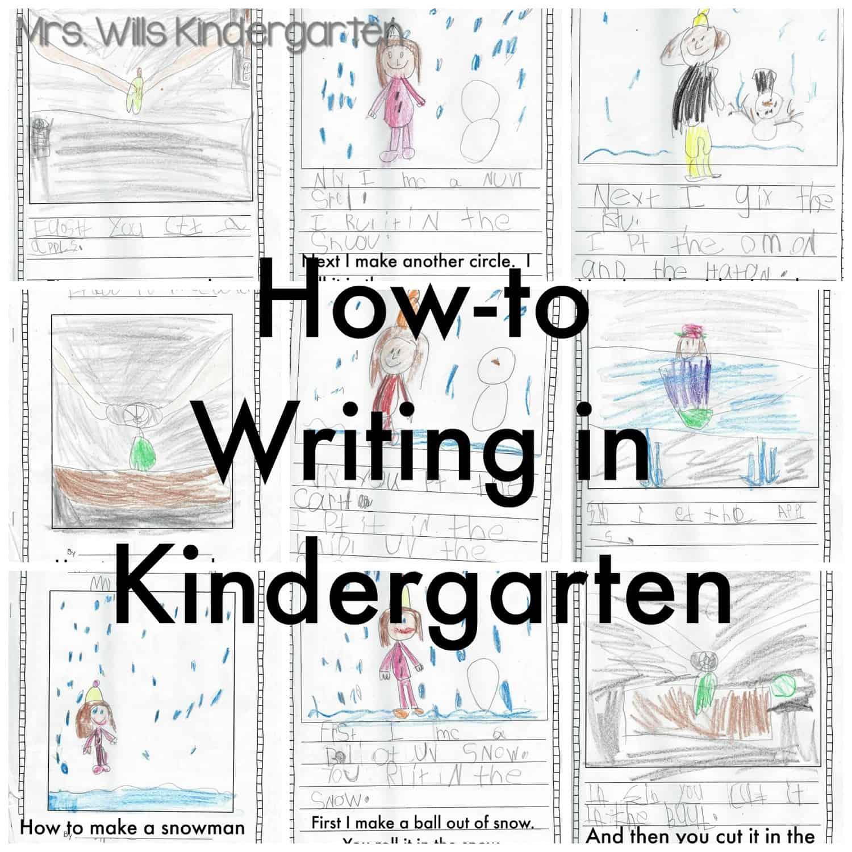 How To Writing In Kindergarten