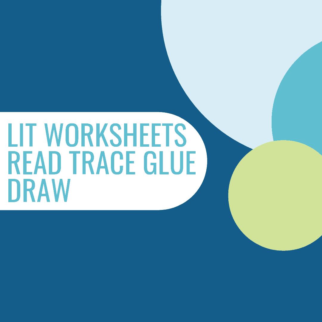 Lit Worksheets Read Trace Glue Draw