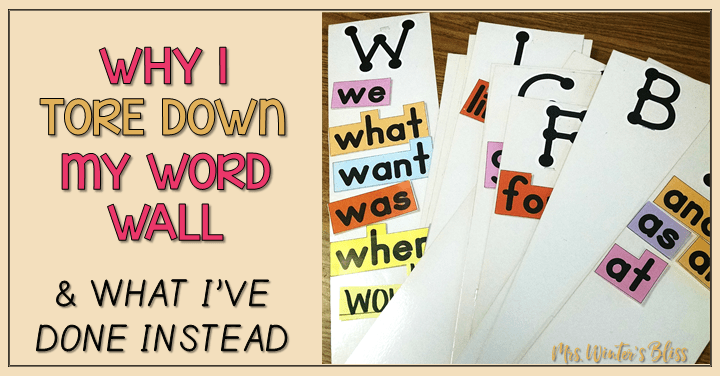 Why I Tore Down My Word Wall & What I've Done Instead