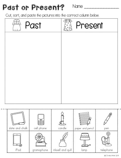 long ago vs today worksheet