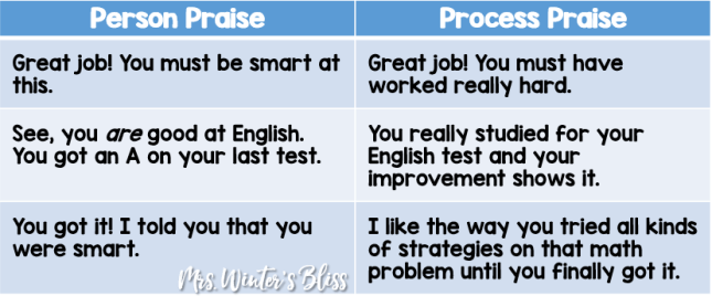 process praise vs person praise