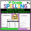 1st grade spelling word lists assessments