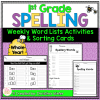 1st grade spelling word lists