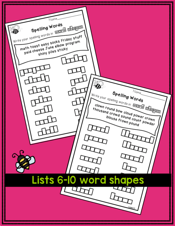 3rd grade spelling word list and spelling test activities