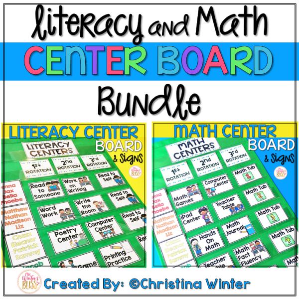 math literacy centers rotation chart