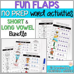 short and long vowel word activities