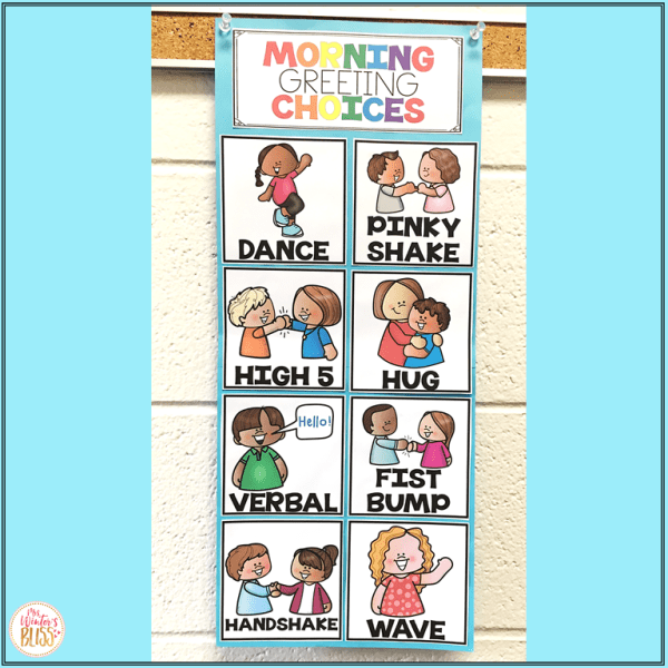 Morning greeting choices poster
