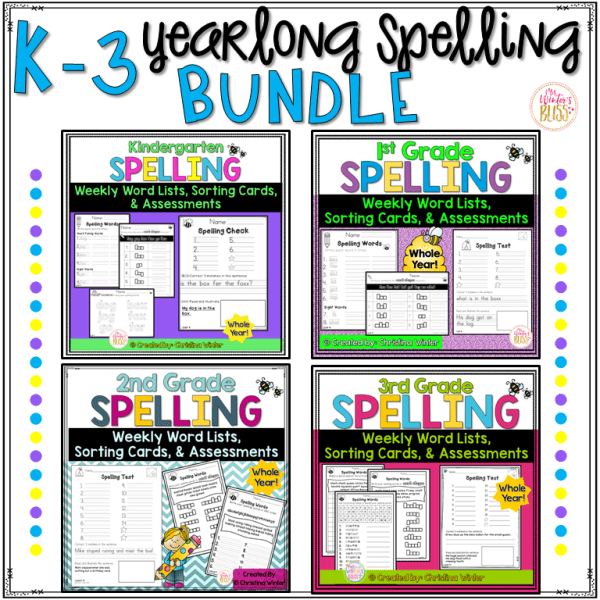 spelling word lists and tests