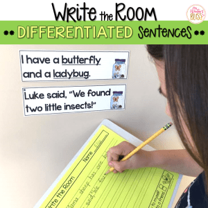 write the room sentences