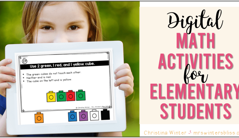 Digital Math Activities for Elementary Students