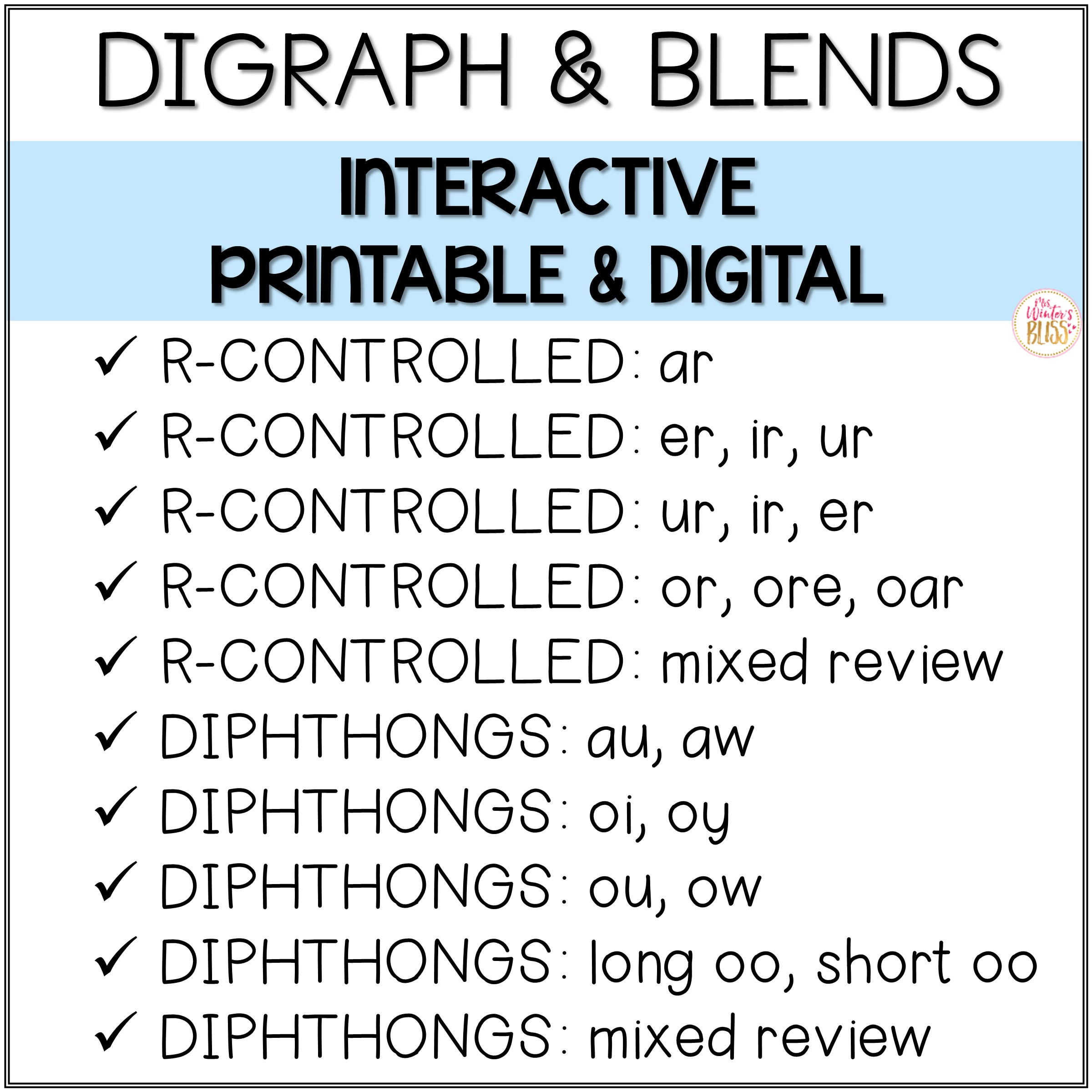 Digital Amp Printable Phonics