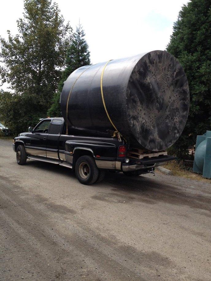 black truck tank