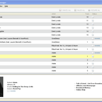 eMusic Download Manager – Windows
