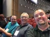 Todd, Jeff, and Shayne waiting for Sunday keynote to begin.