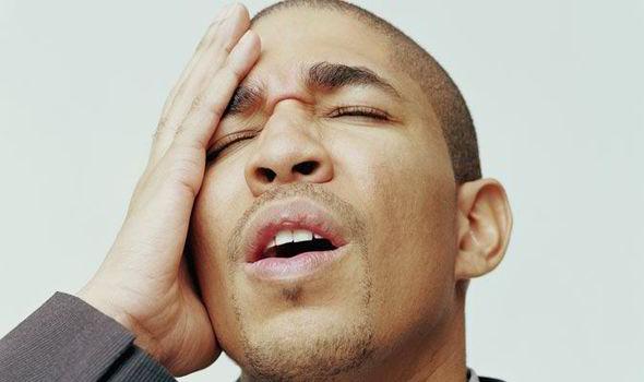 Man slapping his forehead